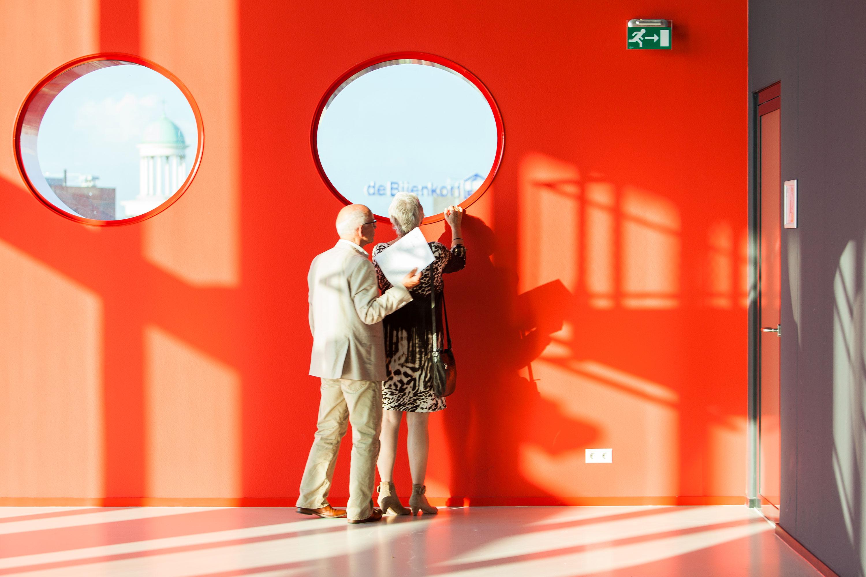Bezoekers tijdens de ingebruikname van TivoliVredenburg door Juri Hiensch